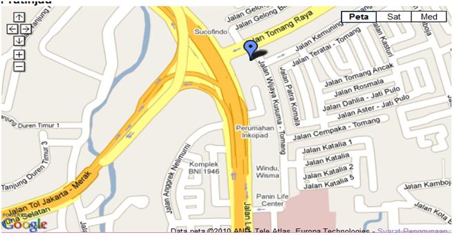 Peta Alamat Kantor FORED : Jalan Tomang Raya No.2D, Jakarta Barat.