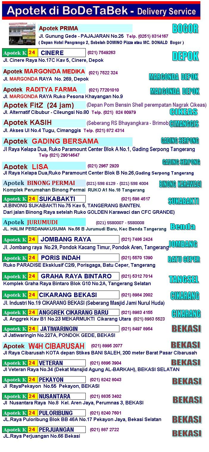 Bogor Depok Tangerang Bekasi OBAT KUAT. Hati-hati obat kuat PALSU! dari pemeriksaan berkala iklan telah kami cabut dari beberapa apotik yang ternyata menjual obat kuat barang PALSU. Apotek obat kuat Hp/WA Jepri 0857 1118 1115